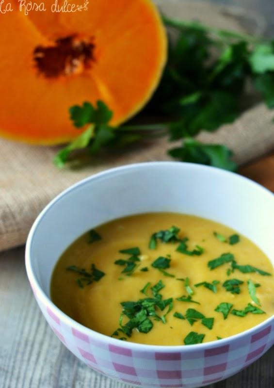 Sopa cremosa de calabaza