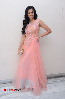 Actress Neha Hinge Stills in Pink Long Dress at Srivalli Teaser Launch  0154.JPG