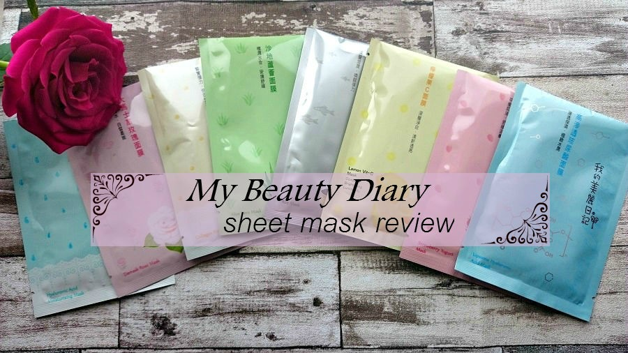 My beauty diary sheet masks review, budget skincare, budget beauty, beauty blog