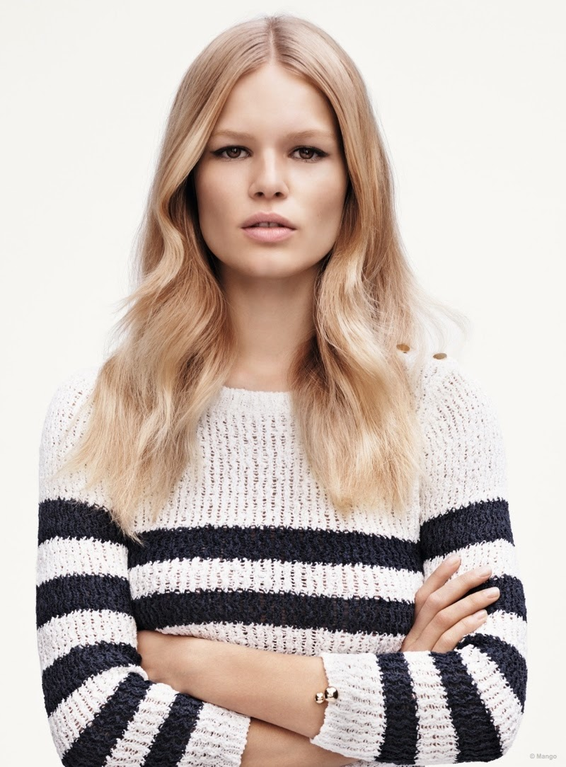 Anna Ewers By Karl Lagerfeld For: Mango Spring/Summer 2015 Campaign Featuring Anna Ewers