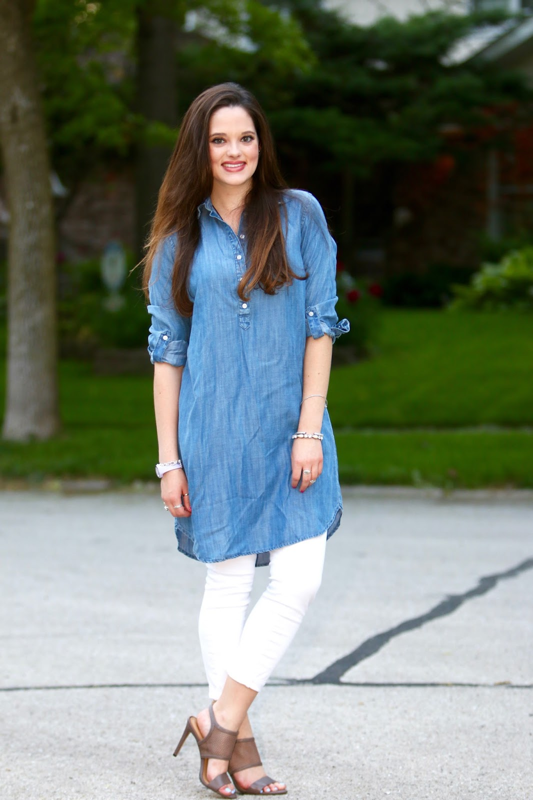 fashion blogger shirtdress