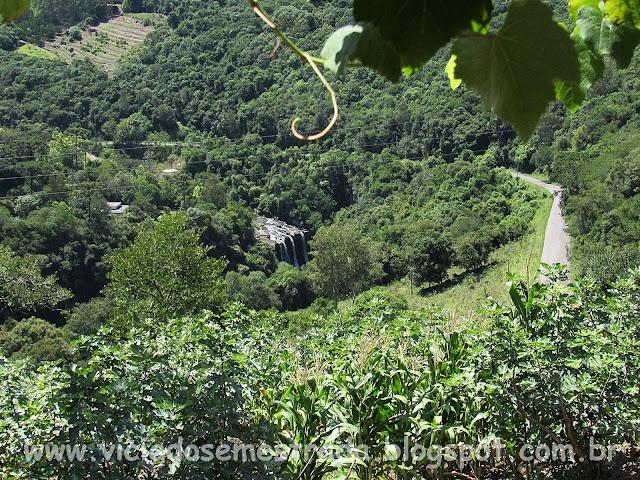 Vista da Cascata Salto Valério, Casa Di Dolci, Bento Gonçalves, RS