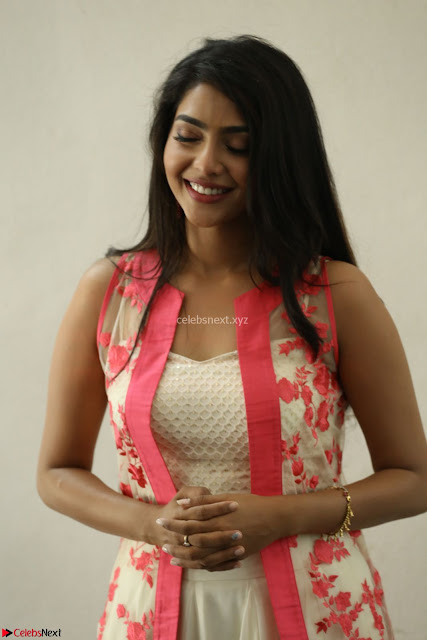 Aishwarya Lekshmi looks stunning in sleeveless deep neck gown with transparent Ethnic jacket ~  Exclusive Celebrities Galleries 007.JPG