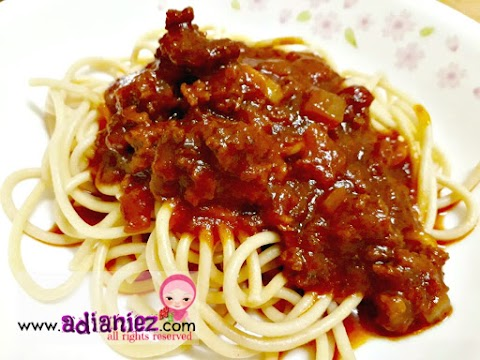 Spagetti Bolognese   Cepat Disediakan, Sedap Dimakan