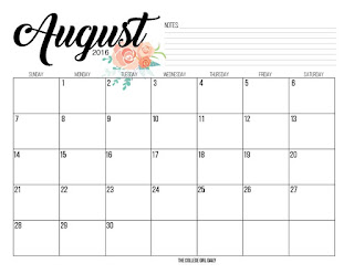 free, calendar, printable, free printable, freebie, printable calendar, free printable calendar, pretty, flower, calendars, 2016