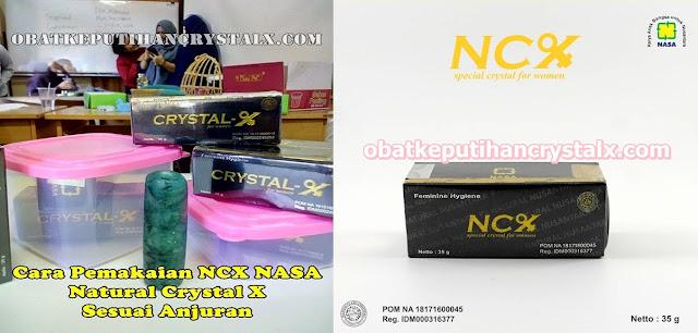 ncx nasa cara pakai crystal x obat keputihan
