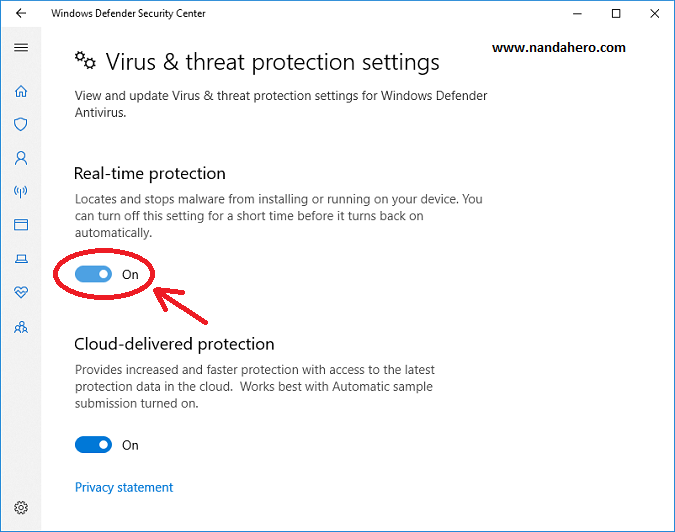 cara mematikan windows defender windows 10 pro