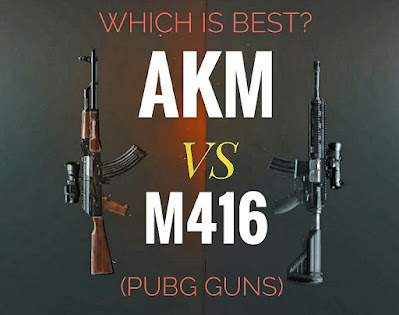 PUBG Gun AKM vs M416. Which is Best? AKM gives more damage than M416. But the stability and the bullet velocity is higher in the M416.