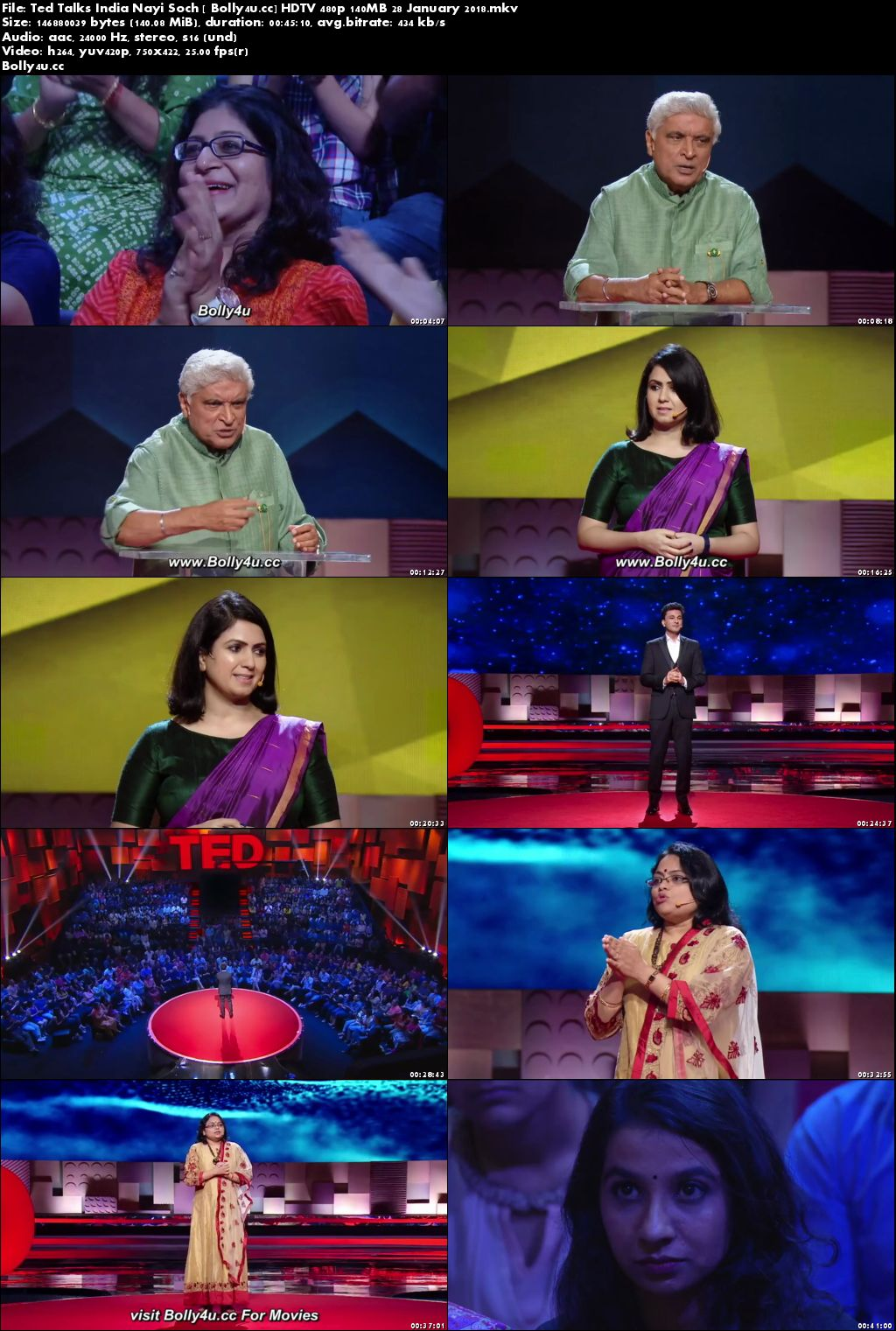 Ted Talks India Nayi Soch HDTV 480p 140MB 28 January 2018 Download