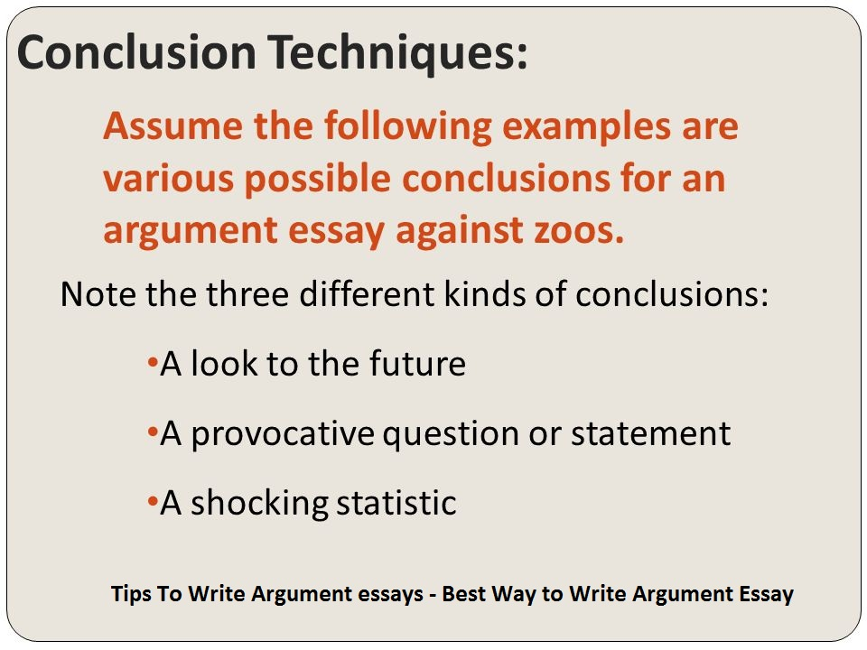 tips on writing a conclusion for an essay