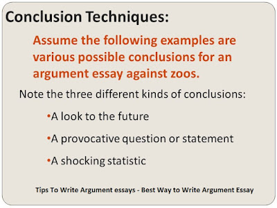 Argument essay tips