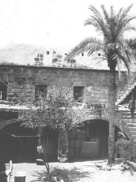 الباحة الداخلية في القصر العربي في تبوك 1907م