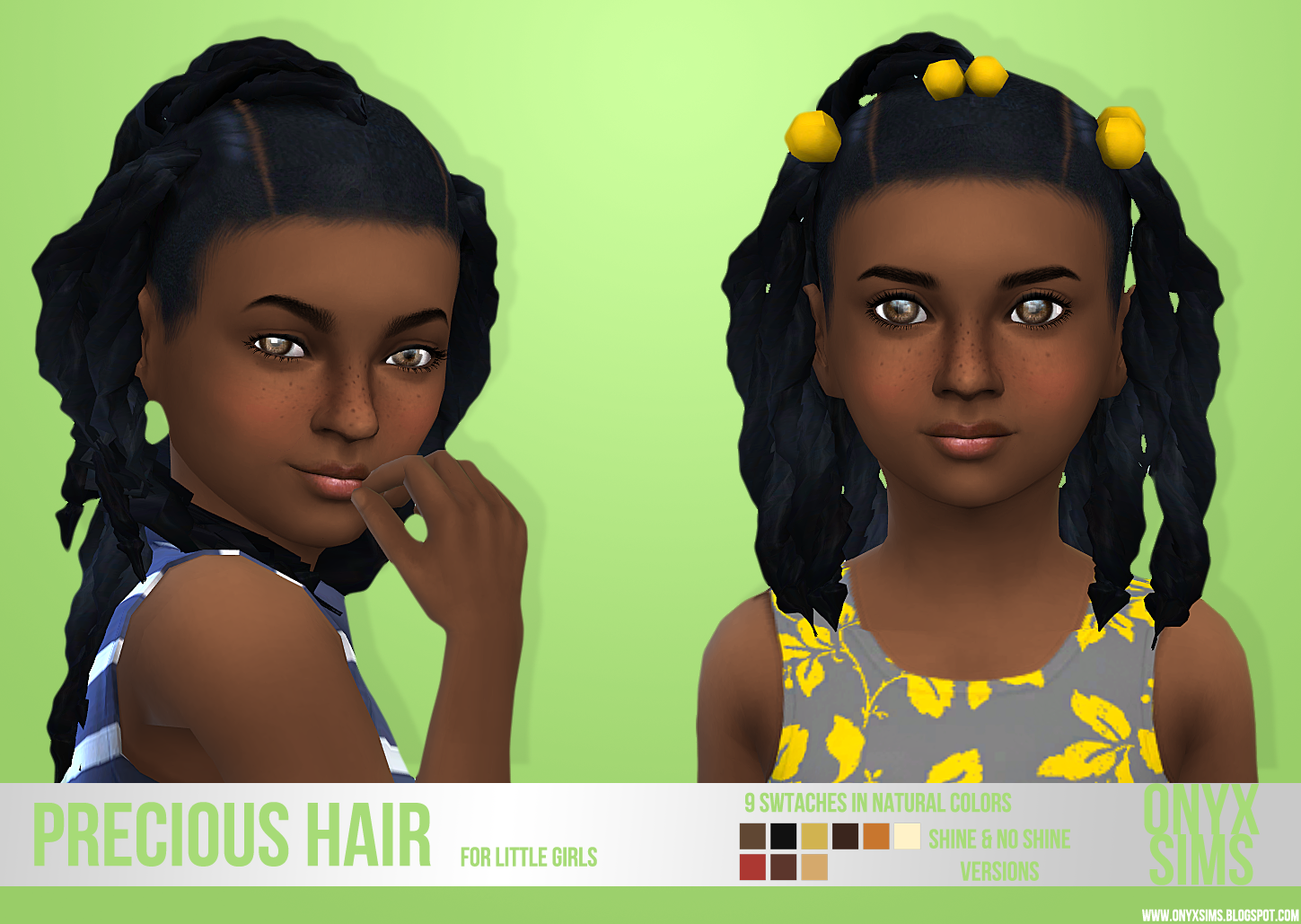 My Sims 4 Blog Precious Ponytails Hair For Girls By
