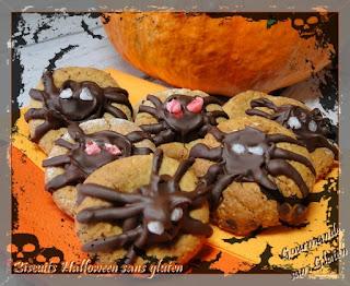 Biscuit Araignée Halloween sans gluten