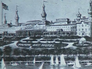 Screengrab of artist's rendering of Tampa Bay Hotel in 19th century