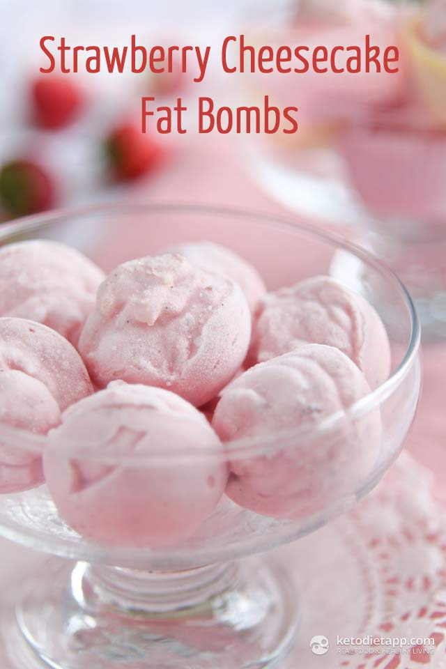 Strawberry Cheesecake Fat Bombs
