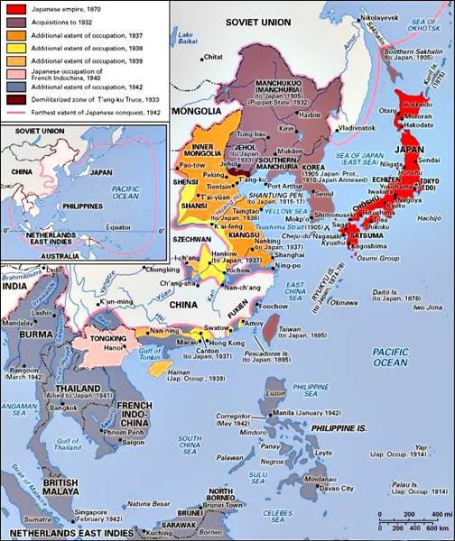 Expansión japonesa a finales del siglo XIX y XX