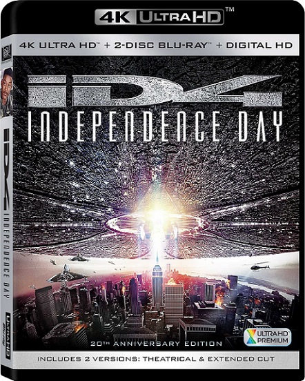 Independence Day EXTENDED 4K (Día de la Independencia 4K) (1996) 2160p 4K UltraHD HDR BluRay REMUX 42GB mkv Dual Audio DTS-X 7.1 ch