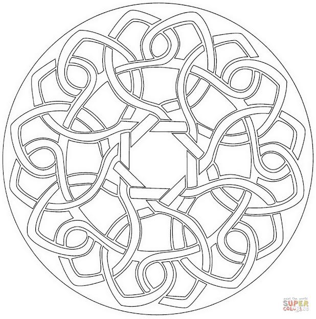 hd celtic mandala coloring pages design free coloring book images. Black Bedroom Furniture Sets. Home Design Ideas