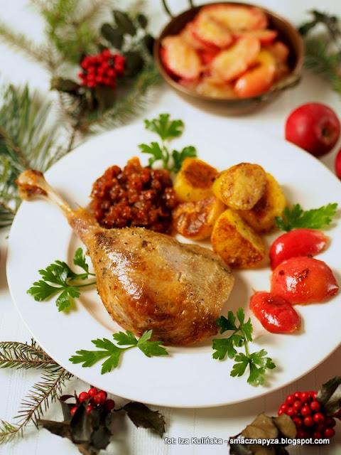 swiateczny obiad, porcjowanie drobiu, jak upiec ges z jablkami, gesina, najsmaczniejsza ges, pieczona ges,