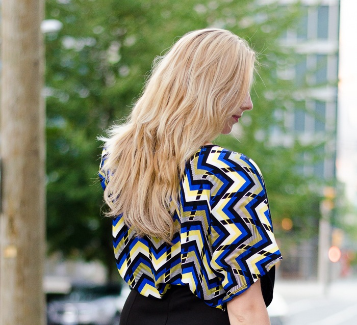 Bright geometric Ever Ivy blouse