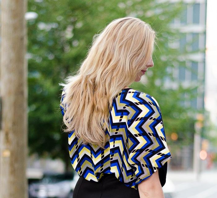 Bright geometric Ever Ivy blouse
