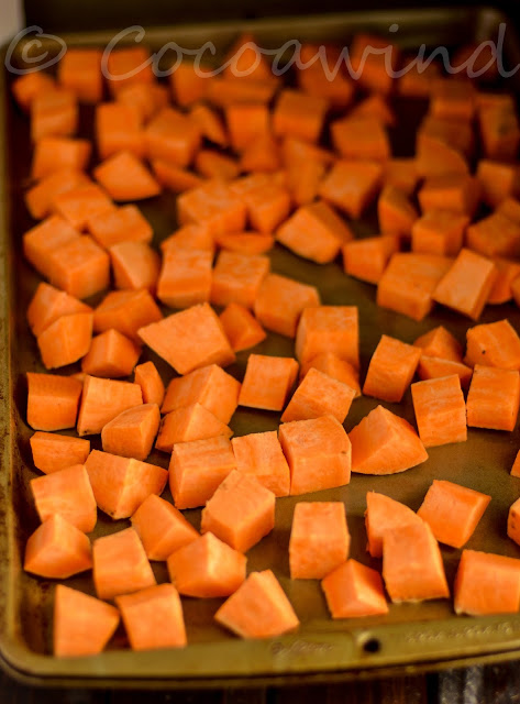Roasted Savory Sweet Potatoes with Thyme & Spices: Lunchbox Recipes: Cocoawind