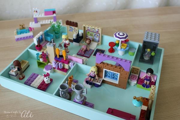DIY Lego Dollhouse Toy Tray