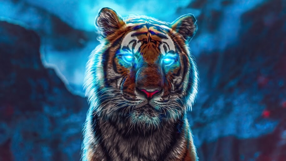 Tiger Glowing Eyes 4k Wallpaper 6 452
