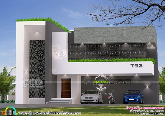 5 bedroom 2930 sq-ft continental villa architecture