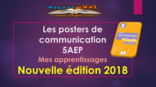Les posters de communication- 5AEP - Mes apprentissages - Nouvelle édition 2018