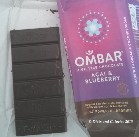 Diets and Calories: OMBAR Organic Raw Chocolate Bars review