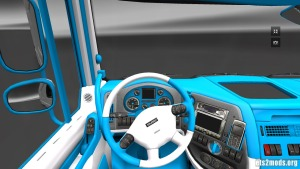 DAF Light Blue and White Interior