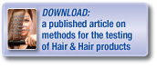 Download a published article covering methods for the testing of hair and hair products
