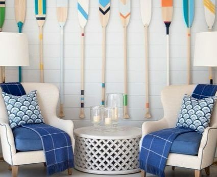 Painted Oars Wall Decor