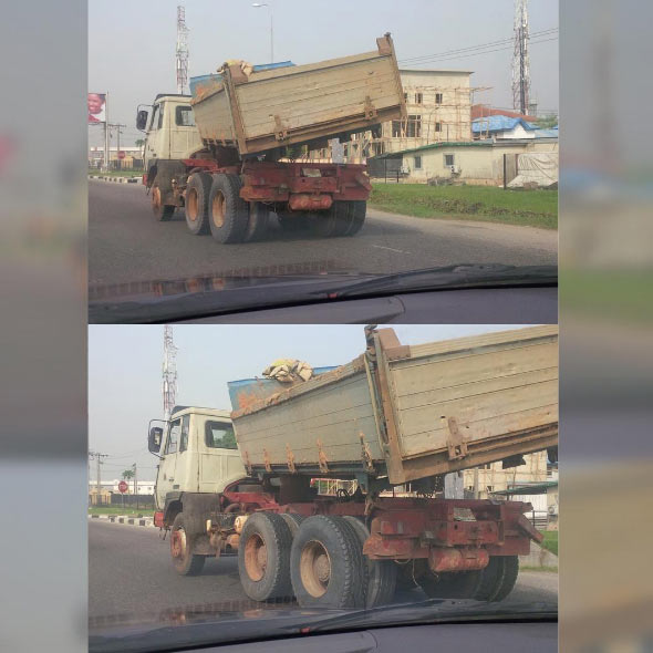 Lorry spotted on Nigerian road