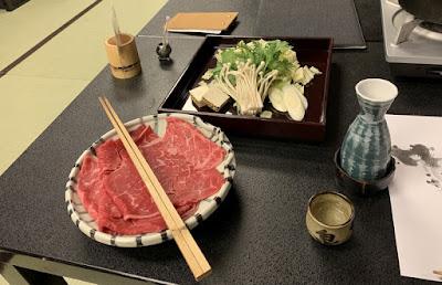 鳳来牛のすき焼き