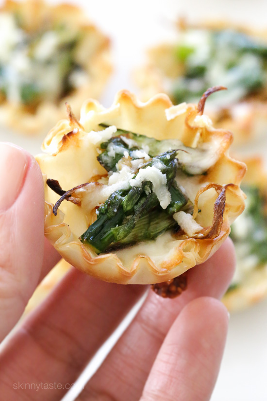 Asparagus and Caramelized Onion Tartlets –an easy, delicious Spring appetizer!