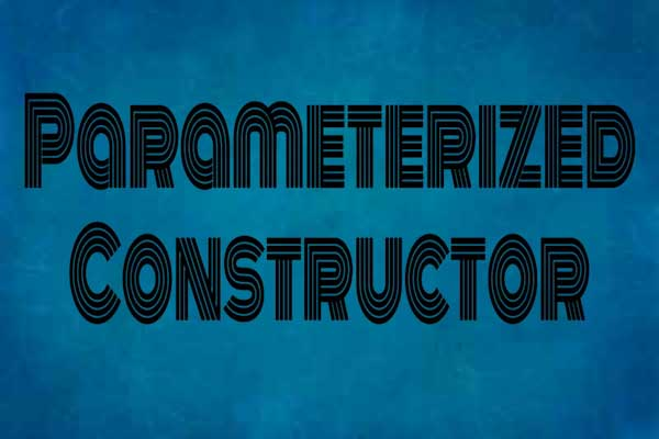 parameterized constructor in c++ programming, learn c++ programming