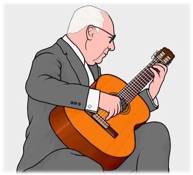 スペインのギタリスト アンドレス・セゴビア(Andres Segovia)