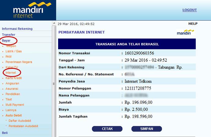 bayar internet telkom