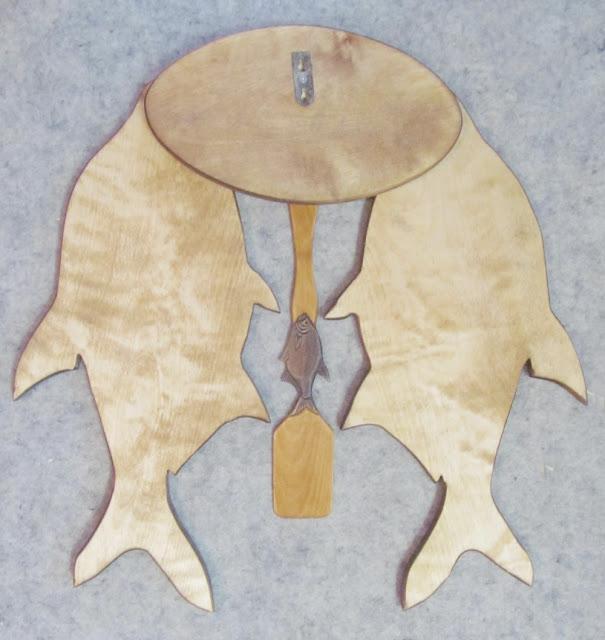 деревянный резной набор для кухни рыбака