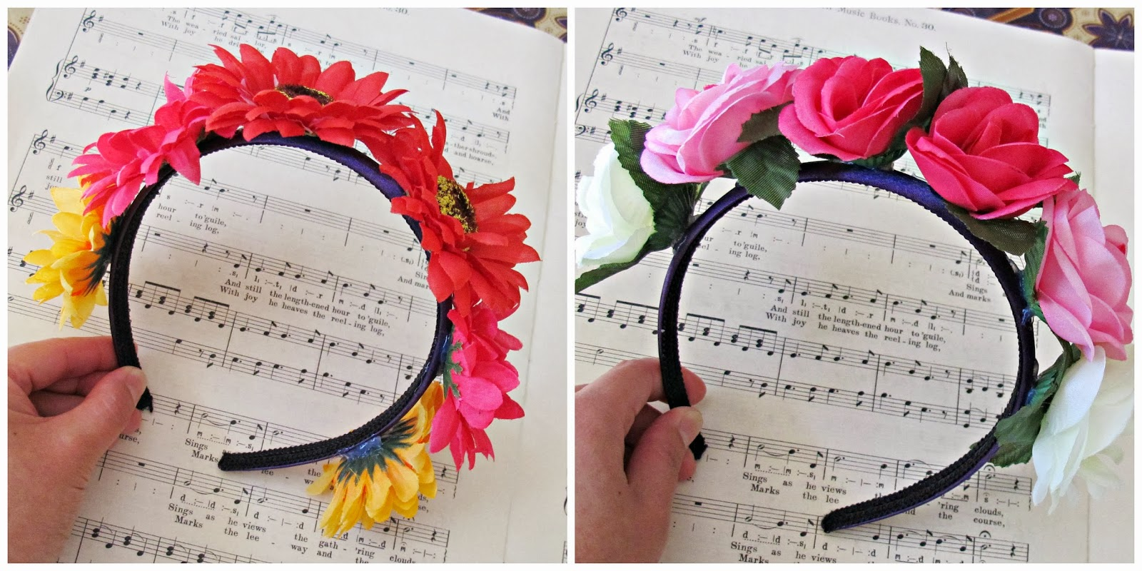 image diy tutorial boho floral headpiece headband two cheeky monkeys