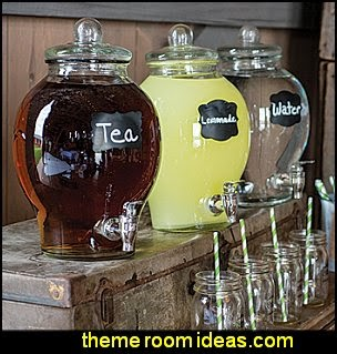Country Chic Glass Beverage Dispenser