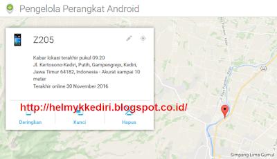Melacak Smartphone Android yang Hilang