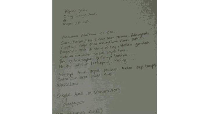 Ngakak! Surat Kocak Ayah Amel dengan Ibu Gurunya Amel Saling Berbalas, Ternyata Ibunya Amel Tidak Hanya Diam