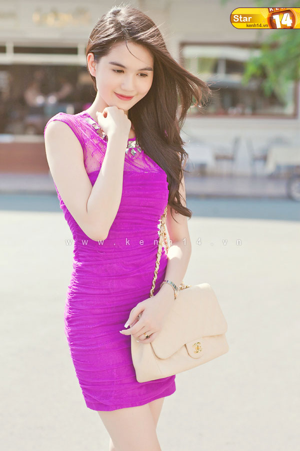 ngoc trinh sexy purple dress 05