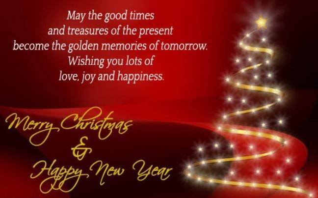 Merry Christmas And Happy New Year Wishes Greetings Collection
