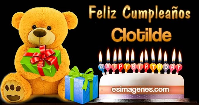 Feliz Cumpleaños Clotilde