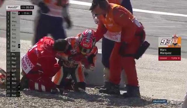 Marquez crash di latihan bebas GP Austria